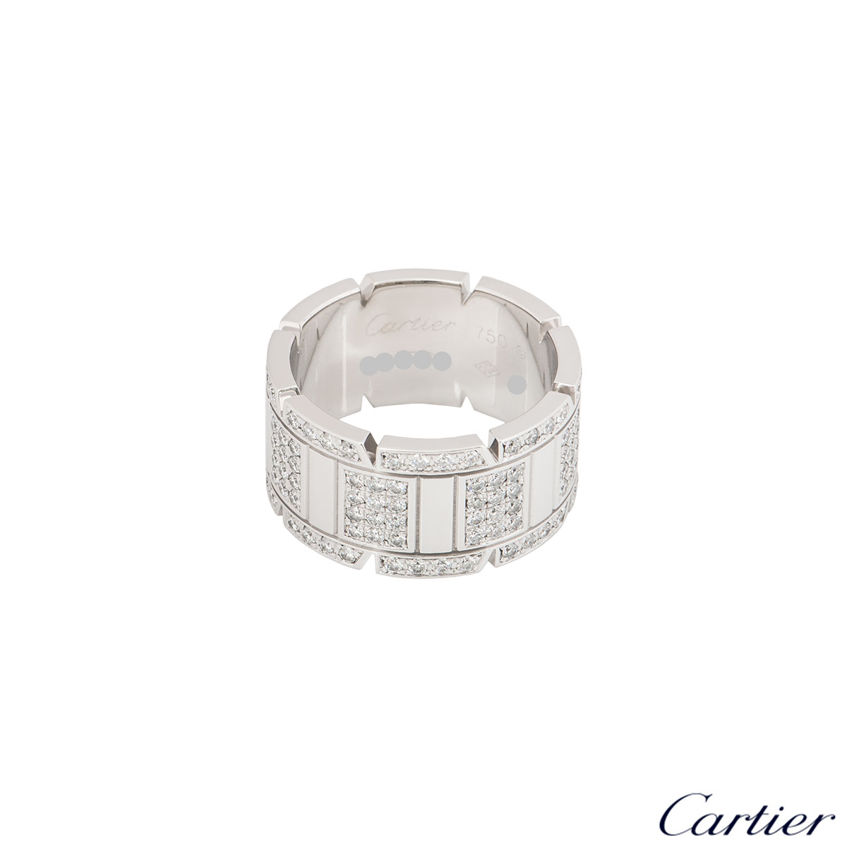 Cartier White Gold Tank Francaise Ring